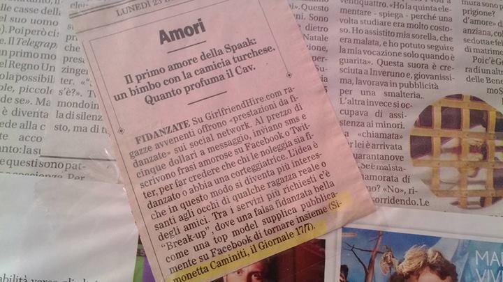 Un lunedì, sul Foglio di Giuliano Ferrara, la rassegna del meglio della settimana sui giornali italiani. Ma a parlare d'amore! :)