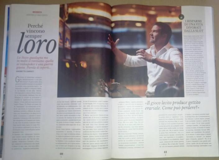 2 delle 4 pagine su Style de Il Giornale: la mia inchiesta sulle slotmachine italiane