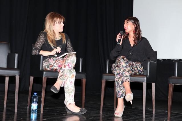 Io e Miriam Giuliano che parliamo di Discovery Channel all'Auditorium della Conciliazione (Roma, ottobre 2013)
